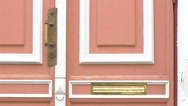 The pink door of an old town hall  gh4 Stock Footage