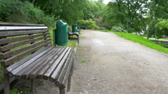 The green bench from toome hill park   gh4 Stock Footage