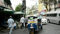 Everyday life in Bangkok street view Stock Footage