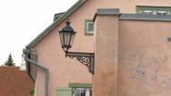 An old street lamp in tartu estonia  gh4 Stock Footage