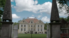 The view from the gate of the old palmse manor  fs700 odyssey 7q Stock Footage