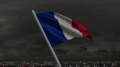 French Flag Animation Stock Footage