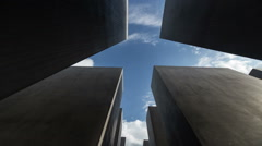 High speed time lapse tour through the Holocaust memorial, Berlin Germany - stock footage
