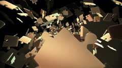Flying puzzle pieces  episode 3 Stock Footage