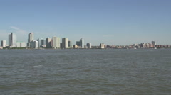 NY waterway ferry at the Hudson river, New York City, USA Stock Footage