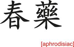 Chinese Sign for aphrodisiac - stock illustration