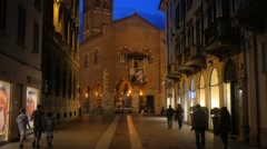 Downtown of Monza, Italy Stock Footage