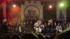 Public concert Stock Footage