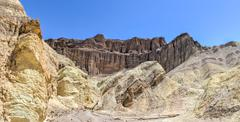 golden canyon, death valley national park - stock photo