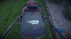 Lawn mower looking down Stock Footage