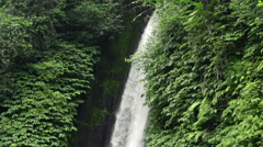 Beautiful waterfal in tropical forest in Bali, super slow motion, 240fps HD - stock footage