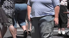 Over-weight people 7 - stock footage