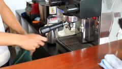 Brewing a coffee Stock Footage