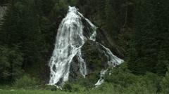 Schleierfall, Hohe Tauern, Austria Stock Footage