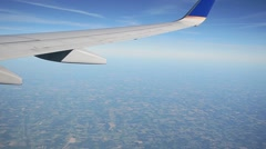Commercial Plane Flying Stock Footage