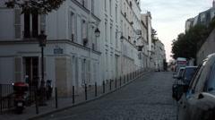 Rue gabrielle Monmartre Paris Stock Footage