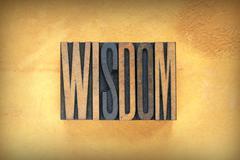 wisdom letterpress - stock photo