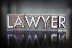 lawyer letterpress - stock photo
