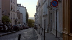 Rue André Barsacq Paris Street Stock Footage