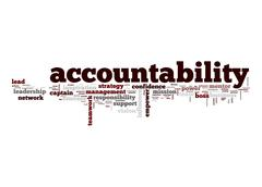 Accountability word cloud Stock Illustration