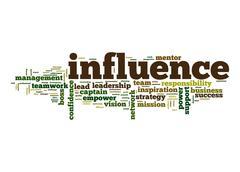influence word cloud - stock illustration