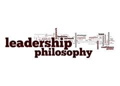 leadership philosophy word cloud - stock illustration