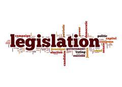 legislation word cloud - stock illustration
