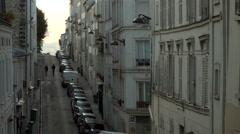 Lovers of Rue Berthe Monmartre Paris France Stock Footage