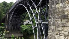 Historical Industial Landmark Ironbridge, Shropshire, England Stock Footage