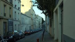 Rue Berthe Monmartre Paris France Stock Footage