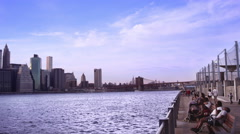 NYC Skyline Pan Stock Footage