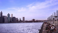 Stock Video Footage of NYC Skyline Pan
