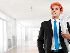 man architect - stock photo