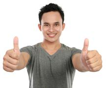 man two thumbs up - stock photo