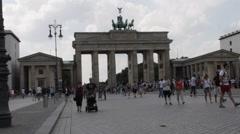 Brandenburg Gate - Berlin Stock Footage
