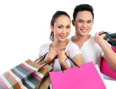 Stock Photo of young couple shopping