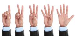 counting hand isolated - stock photo