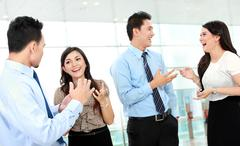 Stock Photo of business conversation