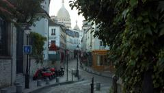Rue Norvins Montmartre France PAris Stock Footage