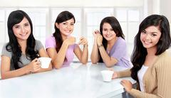 group of women having quality time together - stock photo