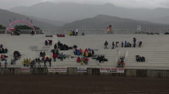 Rodeo rain delays start rural community 4K 255 Stock Footage