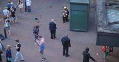 Fire musician busker in London 4K Stock Footage
