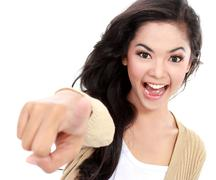 Stock Photo of teanager pointing her finger