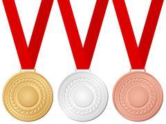 medals golf - stock illustration