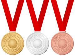 medals tennis - stock illustration