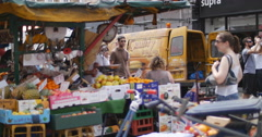 Fruit and veg at Portobello market 4K Stock Footage