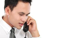 Stock Photo of business man calling