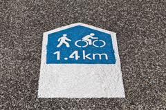 Footpath Sign - stock photo