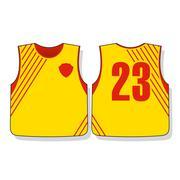 Soccer sports uniforms Stock Illustration