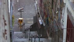 Stairs of rue des Martyrs Paris Stock Footage